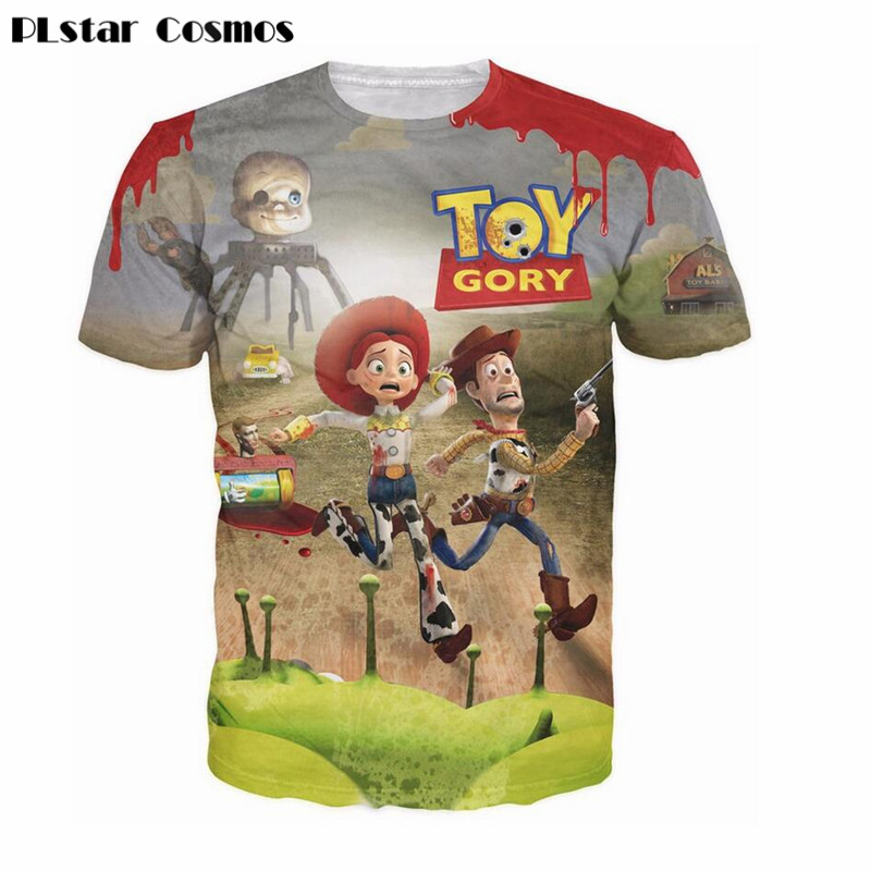 PLstar Cosmos Classic cartoon Toy Story Buzz Lightyear 3d t shirt space galaxy tshirt women/men summer casual tee shirts tops