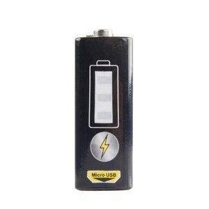Image 2 - 1 chargeur dusb de batterie au Lithium Rechargeable de 9V 550mAh pour le Microphone de multimètre