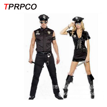 TPRPCO Police costumes Halloween Costumes for police men and police woman  multicolor cospleay NL1521