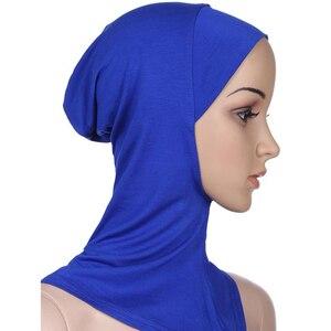 Image 4 - 新着 7 色イスラム教徒のスタイルフルカバーインナー綿ヒジャーブキャップイスラムターバンヘッド磨耗帽子 Underscarf ヒジャーブ