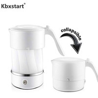 Portable Silicone Foldable Electric Travel Kettle Camping Mini Water Boiler Dry Heating Preservation Chaleira With 110~220V Plug