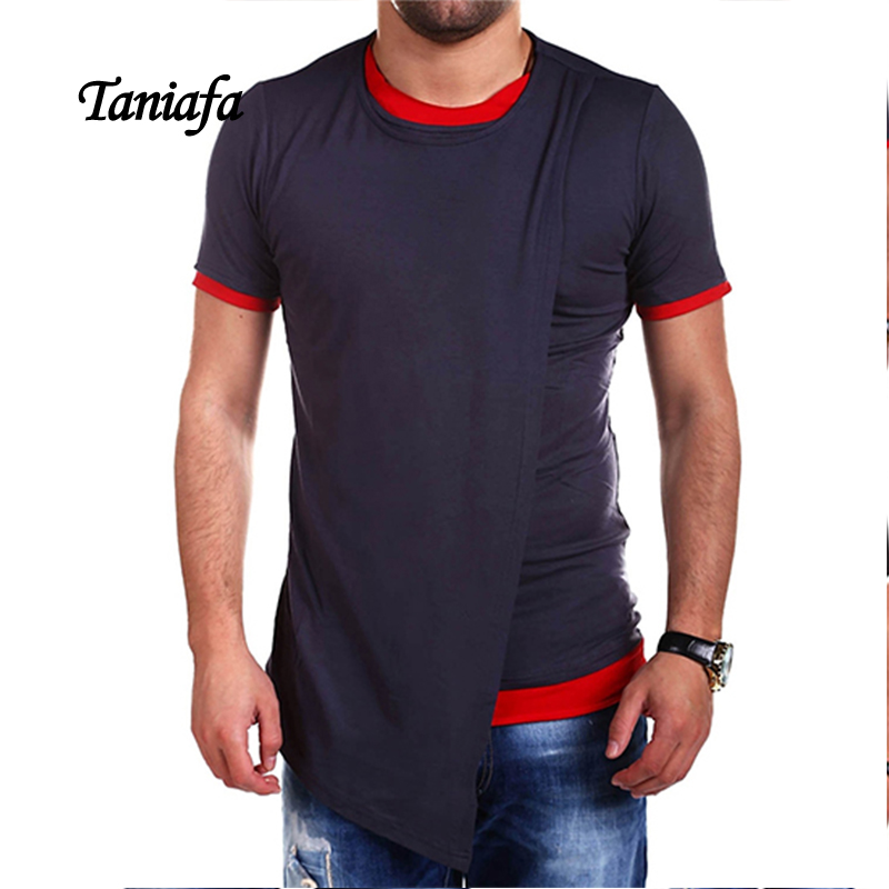 TANIAFA New mens PRO Pullover Tee Irregular Fit-body T-shirt for Max men Skin Head Tee 2 ...