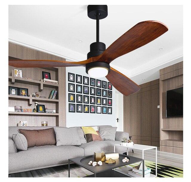 Holz Deckenventilatoren Ohne Licht Schlafzimmer 110 V/220 V Deckenventilator  Holz Deckenventilatoren Mit Lichter Fernbedienung