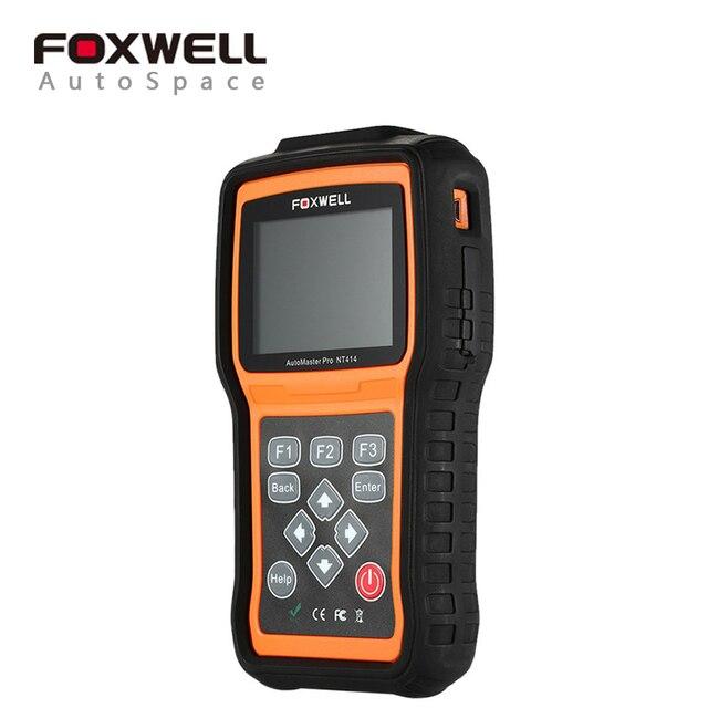 Автомобиль Детектор FOXWELL NT414 Диагностический Scan Tool Для ECU, ABS, подушка безопасности и Передачи NT-414 Заменить MD802 Автомобильная Инструменты