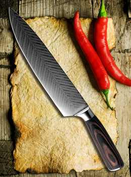 """XITUO 8\"""" inch japanese kitchen knives Damascus surface Chef Knife wood handle Japan steel Santoku Cleaver Utility Knives tool"""