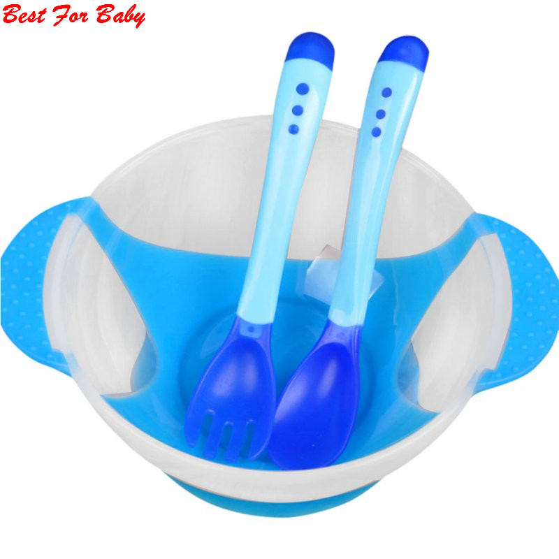 Baby Kids Children Suction Cup Bowl Slip resistant Tableware Set Sucker Bowl