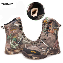 Hunting Trekking Walking Boots Men Winter Waterproof Tactical Camping Climbing Outdoor Snow boot Men Hiking Shoes Mens цена