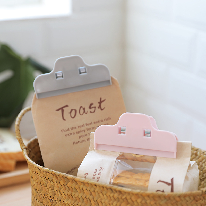 3Pcs/set Portable New Kitchen Storage Food Snack Seal Sealing Bag Clips Sealer Clamp Plastic Tool