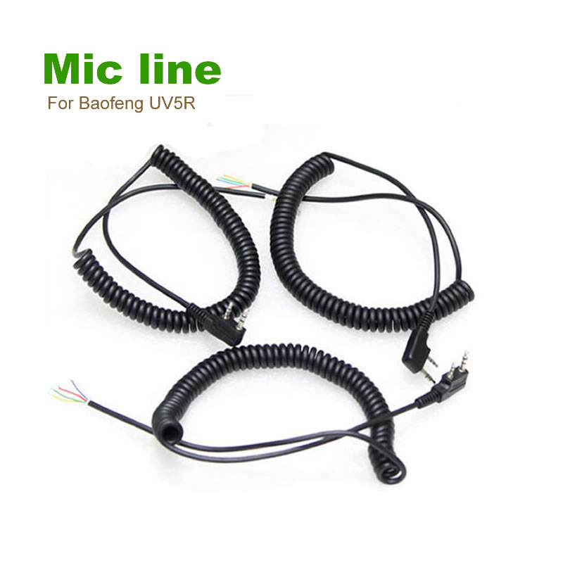 2pin 4Wire Speaker Mic Cable Line For Baofeng UV5R Kenwood