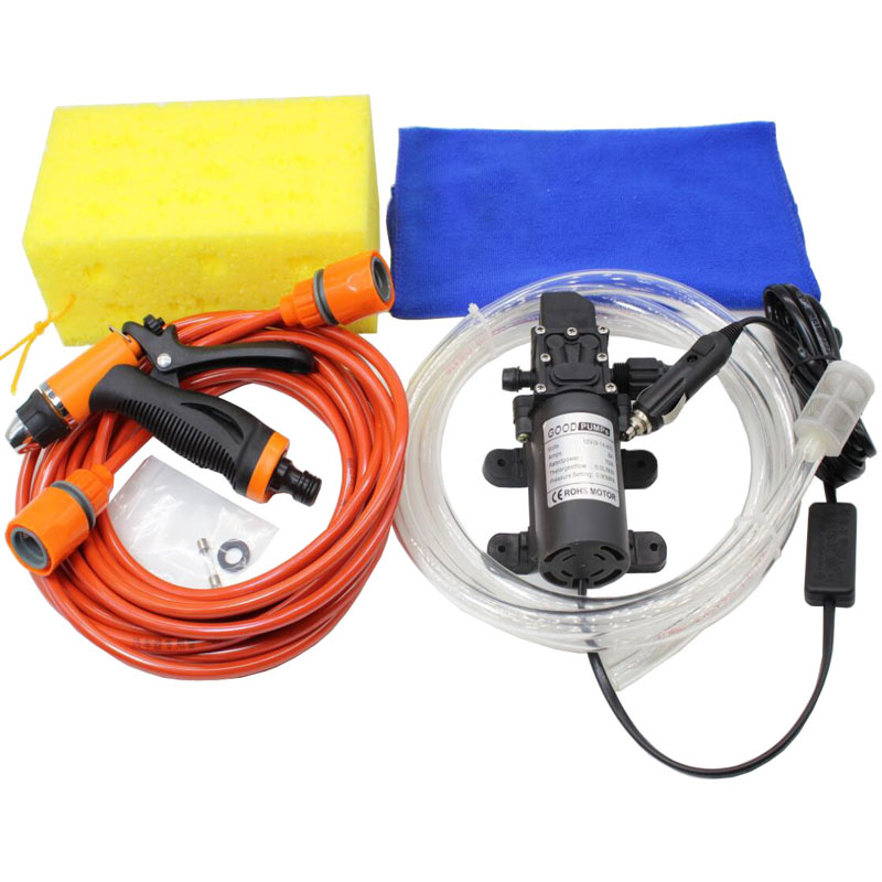 Free Shipping High Pressure Self-priming Electric Car Wash Washer Water Pump 12V Car Washer Washing Machine Cigarette Lighter portable water pump cigarette lighter high pressure 12v spray gun car cleaner self suction electric car washer