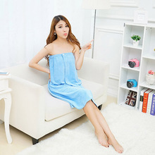 Vieruodis Super Absorbent Towel Sexy Wrap Skirt Lady Wearable Fast Drying Bath Beach Bathrobes Towels