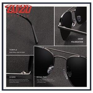 Image 5 - 20/20 מותג קלאסי כיכר מקוטב משקפי שמש גברים נשים נהיגה מתכת מסגרת משקפיים שמש זכר משקפי UV400 Gafas דה סול 17076