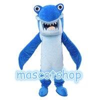 عالية الجودة الأزرق القرش التميمة زي التميمة للبالغين عيد هالوين يتوهم اللباس البدلة