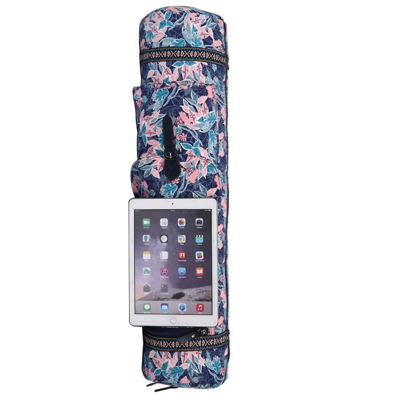 Yoga Backpack Single-Shoulder Bag Pilates Canvas with Side-Pocket Sports-Bags Carrier
