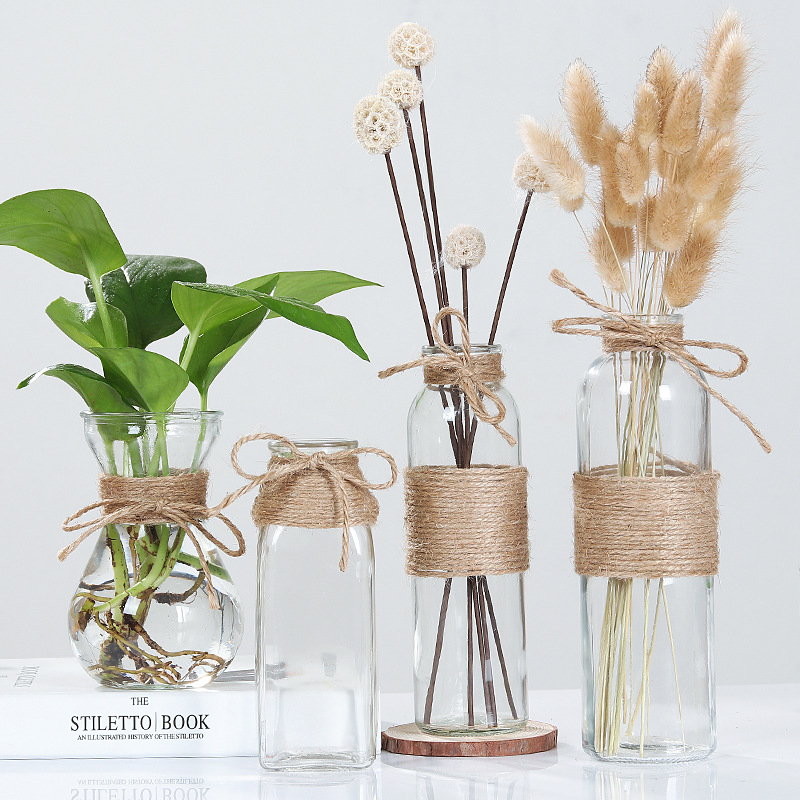 Creative Glass Vase Living Room Decoration Transparent Diy Bottle Water Hydroponic Flower Arrangement Dried Flower European Vase Vases Aliexpress