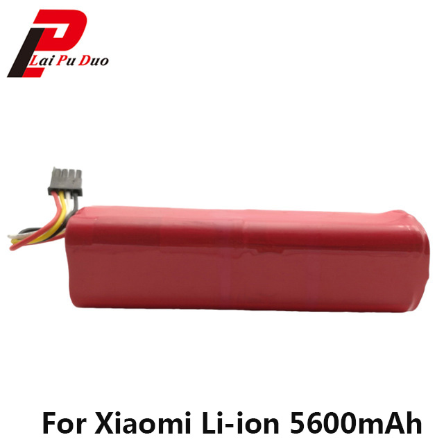 14.4V 5600mAh Li-Ion 18650 Battery For XIAOMI Mijia Roborock S50 S51 Robot Vacuum Cleaner Accessories Li-ion Battery 5v 5600mah li ion batter external power bank for sony xperia z l36h more orange white
