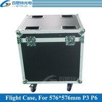 P3 P6 Die casting aluminum Rental LED display cabinet Flight Case, 1 Flight case Pack 6 pcs 576mmX576mm Cabinet