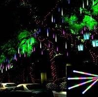 100cm Outdoor Landscape Lighting Garden Road Wedding Decoration Garlands DIY LED Meteor Shower Rain Tube Lights