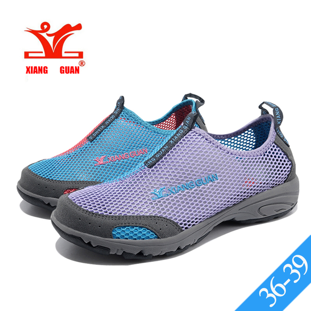 Womens Water Shoe Lightweight Mesh Slip-On Acqua Footwear Beach Hiking Walking Shoe