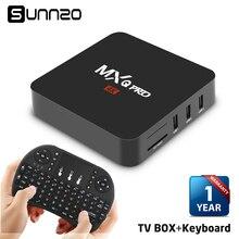 MXQ pro Set-top box Smart Android 7.1 TV BOX 1+8GB Quad Core kodi 17.4 tv box Streaming Media Player 4k WiFi + Wireless Keyboard