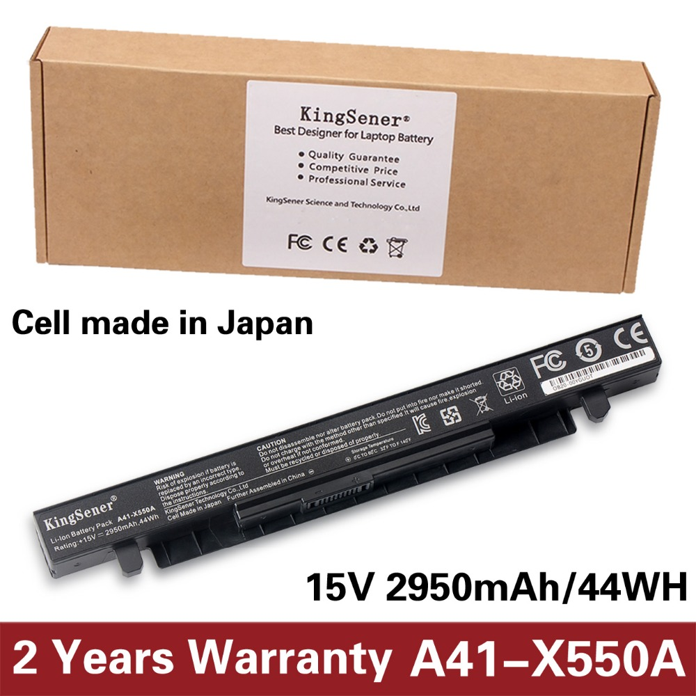 15V 2950mAh Japanese Cell New A41-X550A Laptop Battery for ASUS A41-X550 X450 X550 X550C X550B X550V X550D X450C X550CA 4CELL
