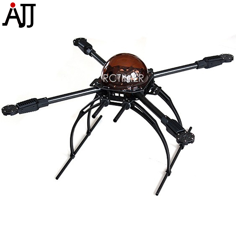 Rctimer X650 Quadcopter Frame Kit Foldable Carbon Fiber 4 Axis Multi Rotor MultiCopter Aircraft Landing Gear Version