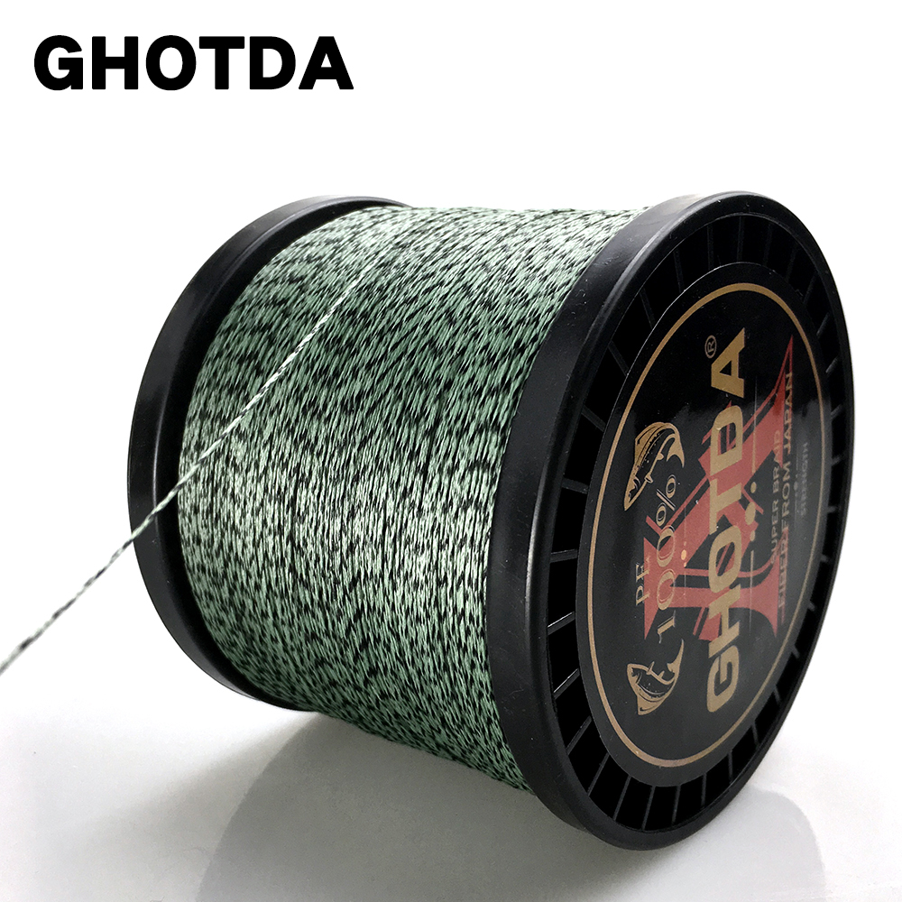 GHOTDA 100M 300M 500M 1000M Fishing Line 8 Strands Braided Camouflage Fishing Line for Fishing