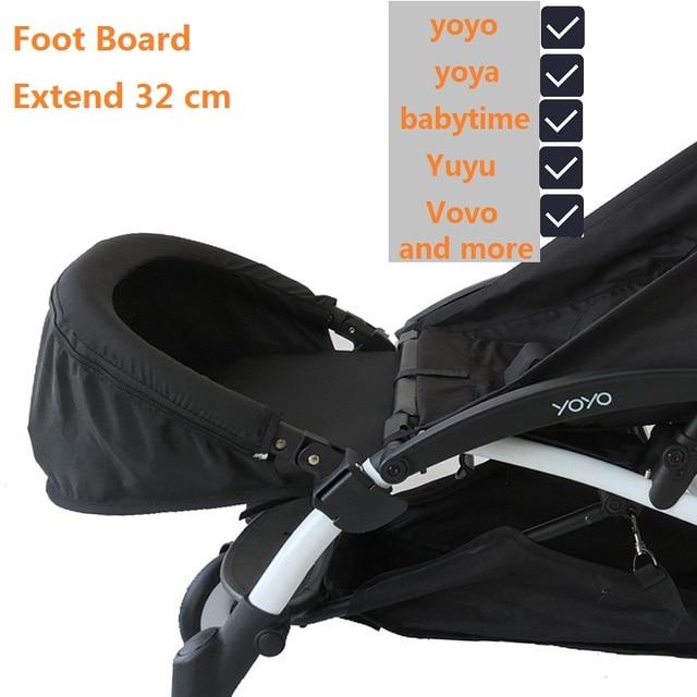 Baby Stroller Accessories Footboard and Armrests Lightweight Adjustable Pram Pushchair Foot Rest Bumper Bar Sleep Extend Board