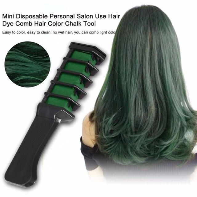 ¡Fácil! 1 pieza de uso Personal de salón Mini peine de tinte para el cabello disposlayons gris púrpura Color rojo tiza cabello herramienta de teñido TSLM2