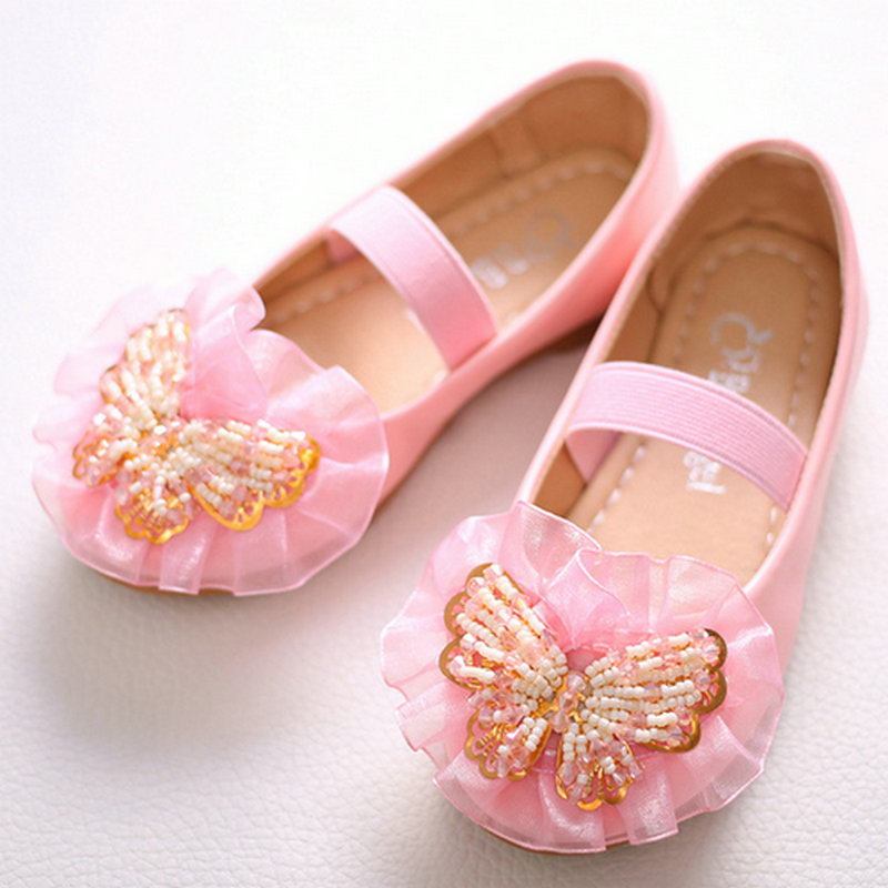 kids girls leather princess shoes girls Casual Shoes Children's Flats Kids girls dress dancing party student leather shoes