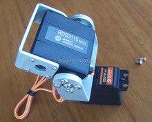 1 conjunto 2 dof metal fpv simples e fácil de usar pan/tilt plataforma da câmera para aeronaves fpv metal fpv (sem servo) + frete grátis