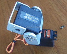 1 set 2 DOF metallo FPV Semplice e facile da usare Pan/Tilt Telecamera Piattaforma Per Aircraft FPV metallo FPV (no servo) + trasporto Libero