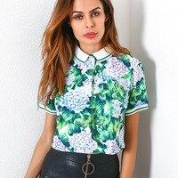 DoreenBow New Fashion Woman Casual Short Sleeve T Shirt Floral Print Boho Summer Top Tees Female