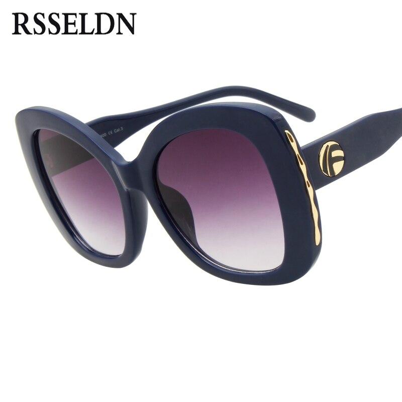RSSELDN Oversized Oval gafas de sol mujer 2018 Nuevo Marco grande gradiente de la vendimia gafas de sol para las mujeres verano UV400 señoras sombras