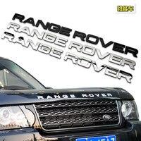 高品質のカースタイリングフロントまたはバックレンジローバー手紙ロゴステッカー用ランドローバーレンジローバーバッジエンブレムオートアクセサリー