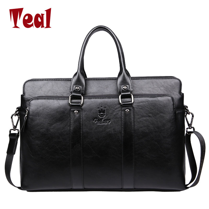 2017 New fashion men bag men's pu Leather briefcase handbag High capacity vintage laptop business bag luxury male casual bags new high quality leather men laptop briefcase bag 14 inch computer bags handbag business bag fashion laptop handbag for men