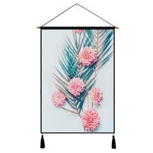 Nodic Wall Art Picture Leaf Print Hanging Painting Modern Solid Wood Scroll Poster Tassel Home Decoration Paintings By Number banana leaf tassel hanging painting wall decor print