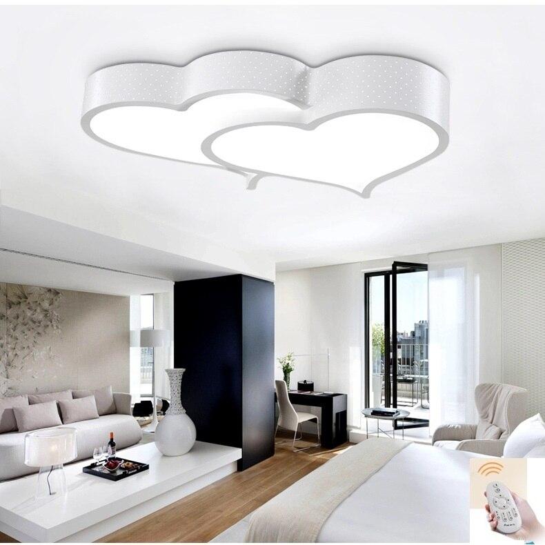 Creative heart shaped LED ceiling light romantic