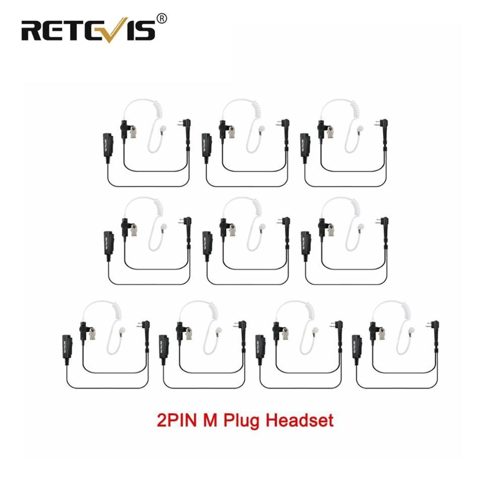 10 stücke Große Größe PTT 2PIN Hörer MIC Headset Für Motorola EP450 PRO1150 CP100 GP2000 CT150 Walkie Talkie Zubehör C9006A