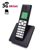 2g 3g gsm sem fio casa telefone fixo com cartão sim sms backlight led tela radiotelefones sem fio para casa|Telefones| |  -