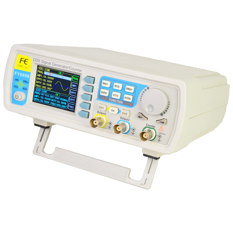 FY6800 dual channel DDS Function Arbitrary Waveform Generator pulse source frequency counter