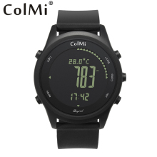 ColMi Smart Watch Beyond Ultra Slim Round Leather IP68 5ATM Waterproof Compass Altimeter Barometer Clock