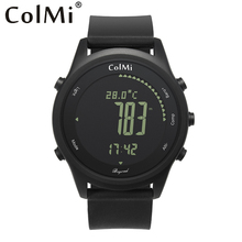ColMi Smart Watch Beyond Ultra font b Slim b font Round Leather IP68 5ATM Waterproof Compass