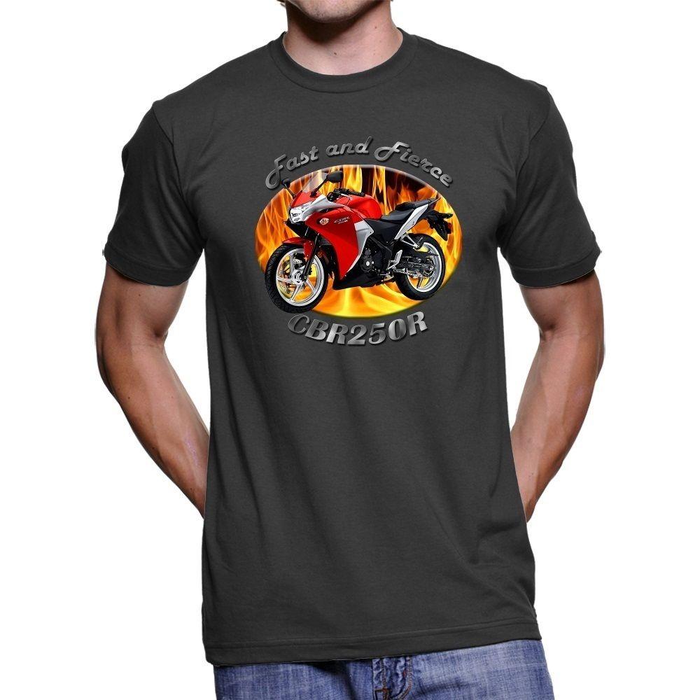 2018 Fashion Hot sale Japanese Motorcycle CBR250R Fast Mens Dark T-Shirt Tee shirt