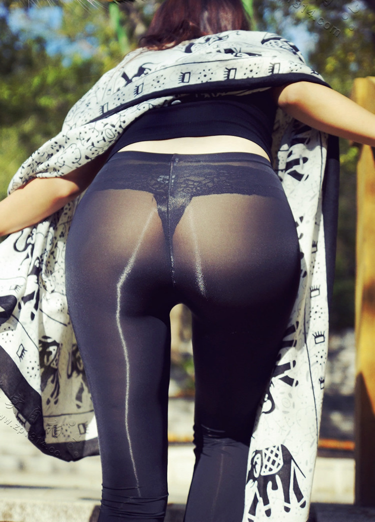 Super Elastic Pajama Pants Women Sexy Transparent Leggings Woman Base Thin Ice Silk  Sexy Silky Sexy Bell-bottom Pant