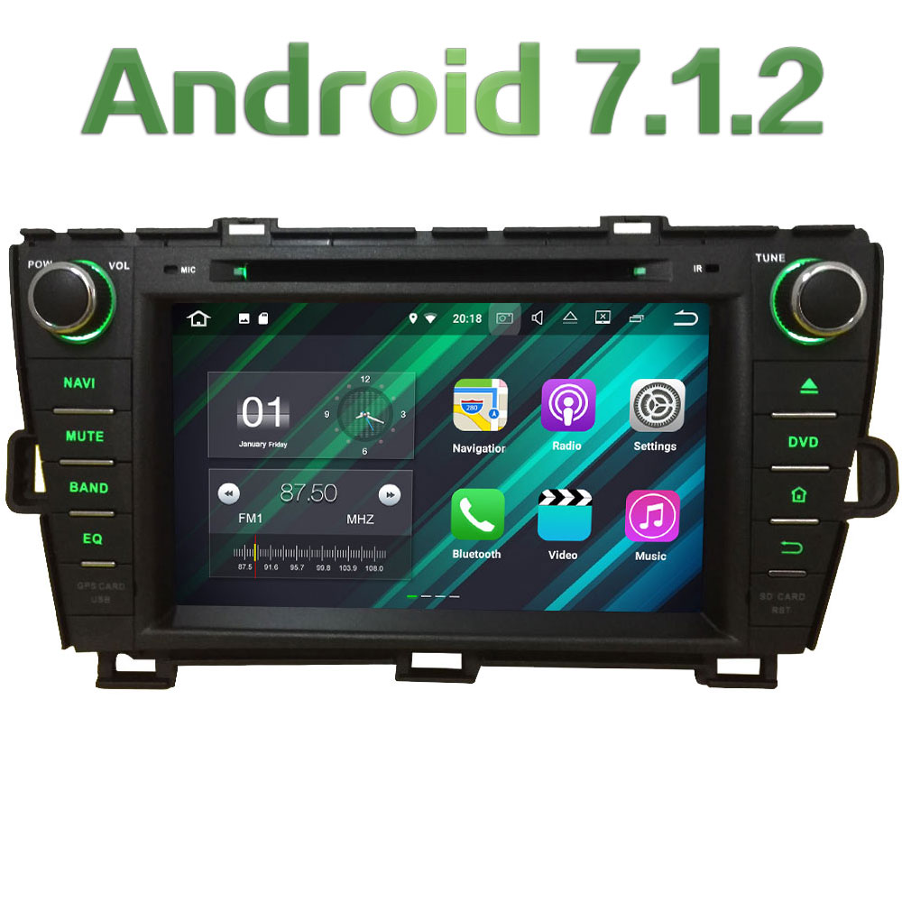 8'' 2GB RAM Android 7.1 Quad Core 4G DAB+ Wifi Multimedia Car DVD Player Stereo Radio GPS Screen for Toyota Prius RHD 2009-2015 2gb ram 9 android 7 1 2 quad core 4g wifi swc dab rds car multimedia player radio stereo for subaru forester wrx xv 2013 2017
