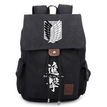 Angriff auf Titan Scouting Legion Große Schule Rucksack Baumwolle Leinwand Reisetasche paket