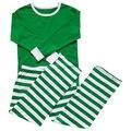 Осень Зима Рождество Женщины Мужчины Взрослых Полосатый Пижамы Пижамы Ночная Одежда Красный Зеленый