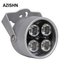 AZISHN CCTV светодио дный S 4 светодио дный Массив ИК светодиодный осветитель света ИК инфракрасный водостойкий ночное видение CCTV заполняющий св...