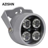 Led de CCTV azisn 4 array IR led iluminador luz IR infrarrojo impermeable visión nocturna CCTV Luz de relleno para cámara CCTV cámara ip